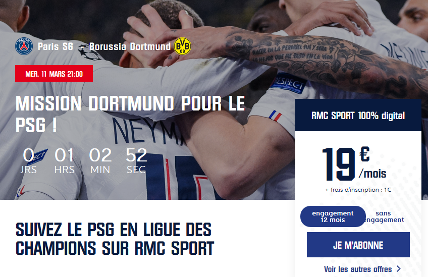 psg dortumud streaming rmc